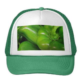 Gama verde del regalo de los paprikas gorras