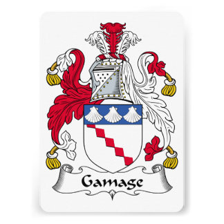 Gamage Family Crest Announcement