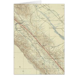 Gamas de costa que muestran la grieta de San Andre Felicitación