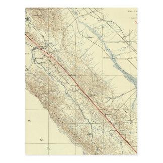 Gamas de costa que muestran la grieta de San Andre Postales