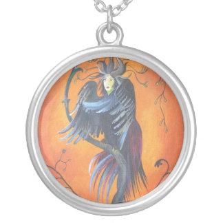 Gamaun el pájaro profético con las plumas rizadas colgante redondo