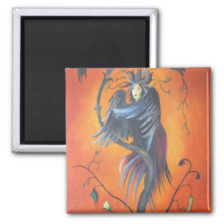 Gamaun The Prophetic Bird With Ruffled Feathers Magnet