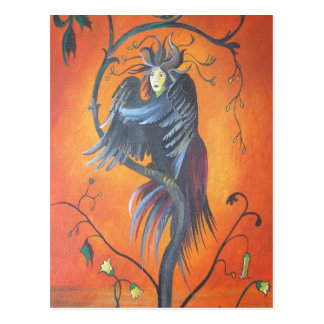 Gamaun The Prophetic Bird With Ruffled Feathers Postcard