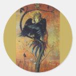 Gamayun: The Prophet Bird Fantasy Art Sticker