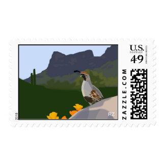 Gambel Quail Postage Stamp