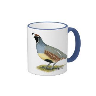 Gambel's Desert Quail Ringer Coffee Mug