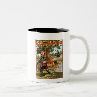 ¡Gamberro feliz - envenenado por el té! Taza Dos Tonos