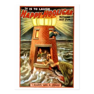 Gamberro feliz tarjeta postal