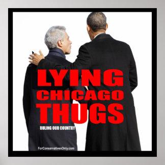 Gamberros de mentira de Chicago Posters