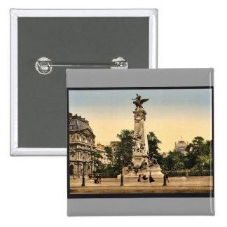 Gambetta s monument Paris France vintage Photoch Pinback Buttons