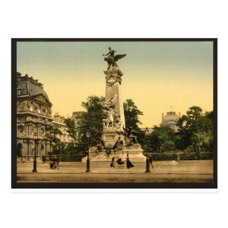 Gambetta's monument, Paris, France Postcard