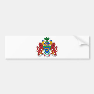 Gambia Coat of Arms Car Bumper Sticker