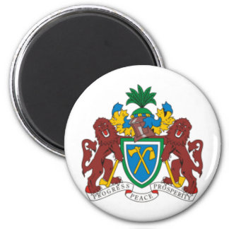 Gambia coat of arms fridge magnets