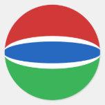 Gambia Fisheye Flag Sticker