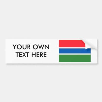 Gambia flag map code bumper sticker zazzle com