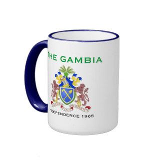 GAMBIA*- Flag & Coat of Arms Mug
