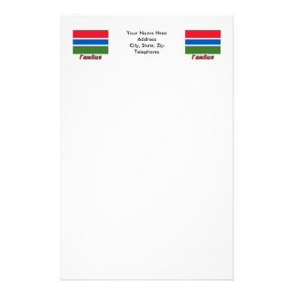 Gambia Flag Flag with name in Russian Stationery