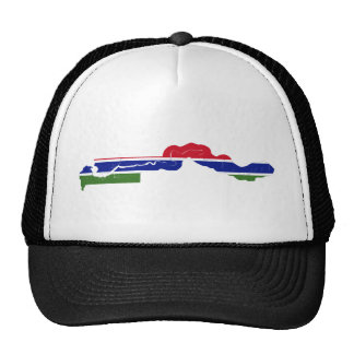 Gambia Flag Map GM Trucker Hat