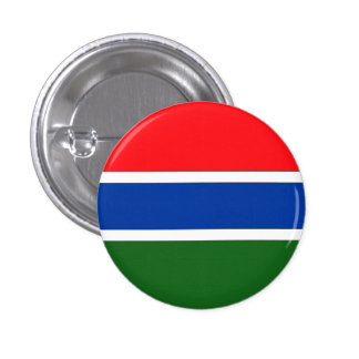 Gambia Flag Pinback Button