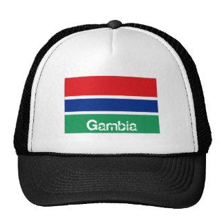 Gambia gambian flag trucker mesh souvenir hat