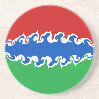 Gambia Gnarly Flag Drink Coasters