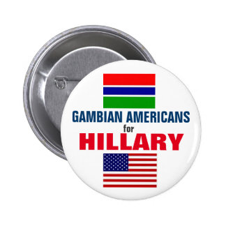 Gambian Americans for Hillary 2016 Button