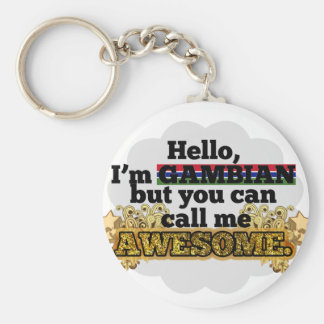 Gambian, but call me Awesome Basic Round Button Keychain