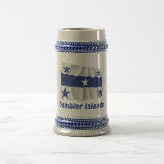 Gambier Islands Waving Flag with Name Coffee Mug