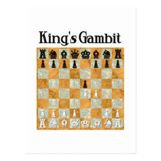 Gambit de rey postales