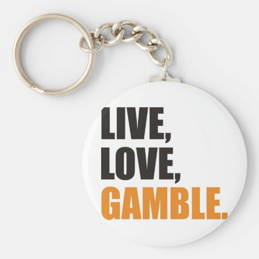 gamble basic round button keychain