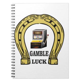 Gamble luck slots spiral notebook
