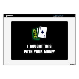 Gamble Your Money Laptop Skin