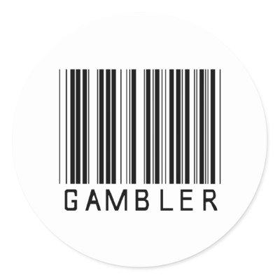 barcode label sticker. Gambler Bar Code Stickers by
