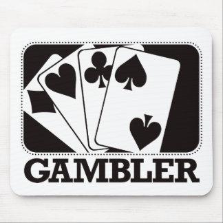 Gambler - Black Mouse Pad