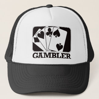 Gambler - Black Trucker Hat