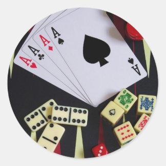 gambler classic round sticker