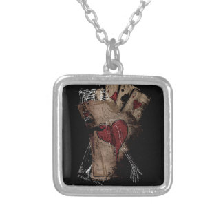 Gambler Death Card Silver Plated Necklace