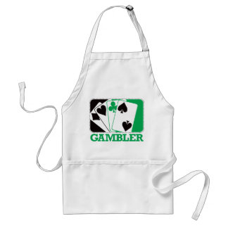 Gambler - Green Adult Apron