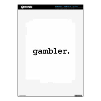 gambler. iPad 3 decals