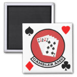 Gambler Magnet Patch with Suits