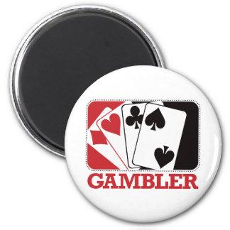 Gambler - Red 2 Inch Round Magnet