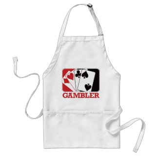 Gambler - Red Adult Apron