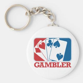 Gambler - Red and Blue Basic Round Button Keychain