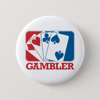 Gambler - Red and Blue Pinback Button