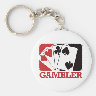 Gambler - Red Basic Round Button Keychain