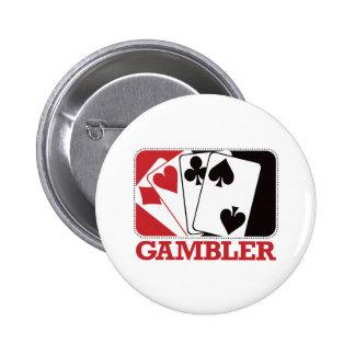 Gambler - Red Pinback Button