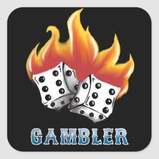 Gambler Square Sticker