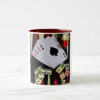gambler Two-Tone coffee mug