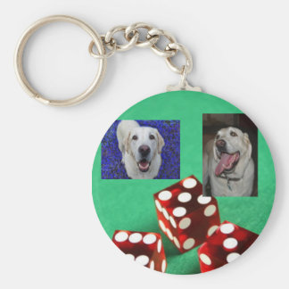 gambler yellow lab key chain