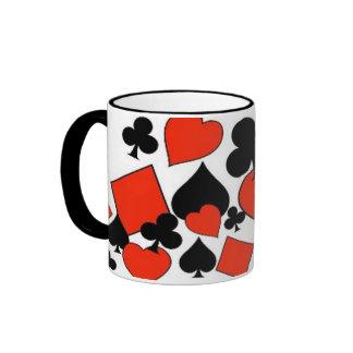 Gamblers 4 Suits Ringer Mug